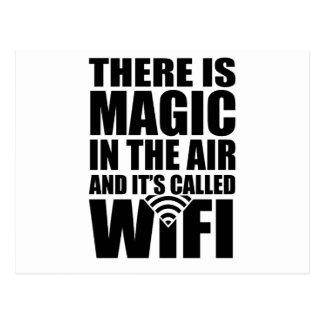 Magic wifi postcard