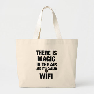 Magic Wifi Quote Large Tote Bag