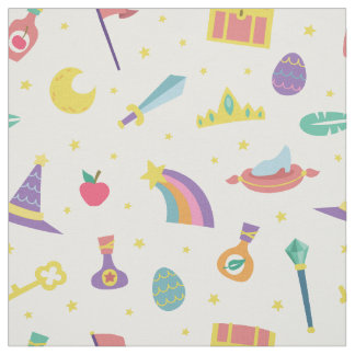 MAGIC WIZARD FAIRY TALE ELEMENTS NURSERY WHITE FABRIC