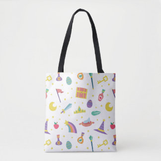 MAGIC WIZARD FAIRY TALE ELEMENTS white background Tote Bag