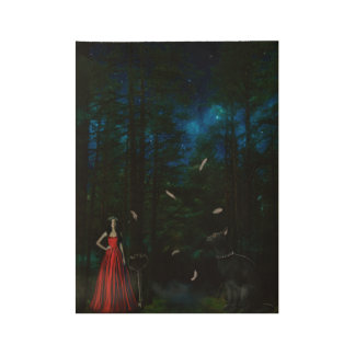 magic woods wood poster