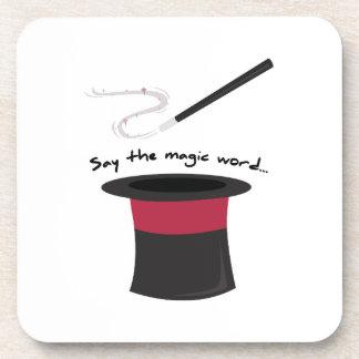 Magic Word Beverage Coaster