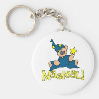 Magical Bear Basic Round Button Key Ring