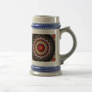Magical Black and Red Mandala Beer Stein