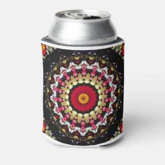 Magical Black and Red Mandala Can Cooler