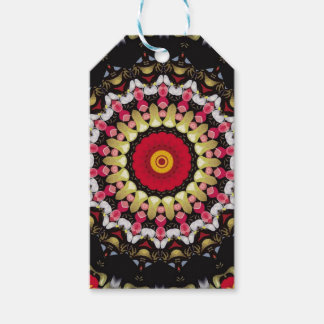 Magical Black and Red Mandala Gift Tags