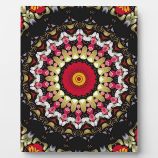 Magical Black and Red Mandala Plaque