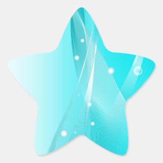 Magical Blue Modern Style Star Sticker