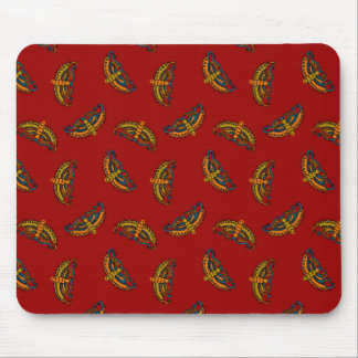 Magical Butterflies on Red Mouse Pad