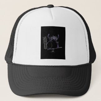 magical cat trucker hat