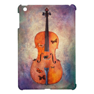 Magical cello with butterflies iPad mini case