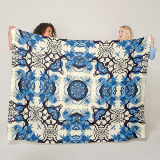 Magical Celtic Unicorn Mandala Fleece Blanket