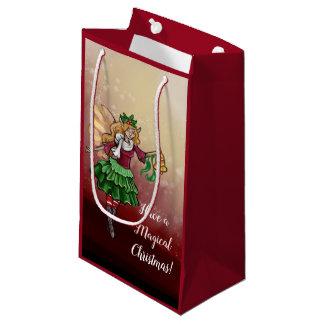 Magical Christmas Bell Fairy Small Gift Bag