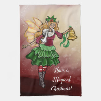 Magical Christmas Bell Fairy Tea Towel