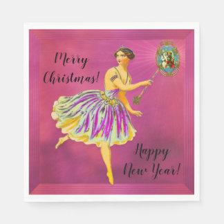 Magical Christmas Cheer II Fun Fairy Paper Serviettes
