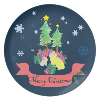 Magical Christmas Forest Party Plates