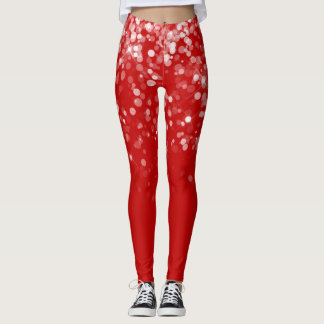 Magical Christmas Glowing Sparkling Snow Leggings