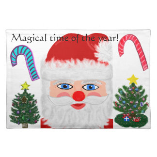 Magical Christmas Santa Trees Candy Canes Placemat