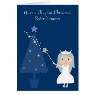 Magical Christmas Sober Princess & Tree Card