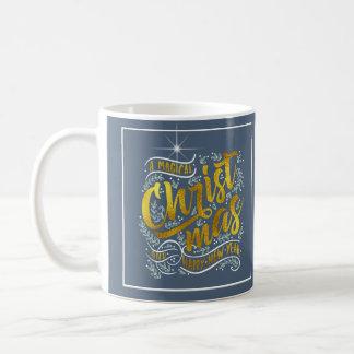 Magical Christmas Typography Gold ID441 Coffee Mug