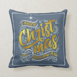 Magical Christmas Typography Gold ID441 Cushion
