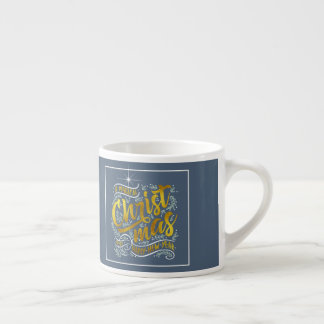 Magical Christmas Typography Gold ID441 Espresso Cup