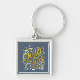 Magical Christmas Typography Gold ID441 Key Ring