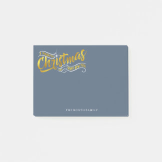 Magical Christmas Typography V2 Gold ID441 Post-it Notes