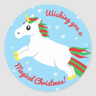 Magical Christmas Unicorn Sticker