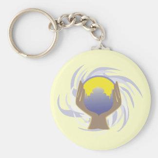magical crystal ball design key ring