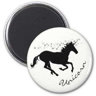 Magical Cute Unicorn Black and White Magnet