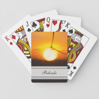 Magical Dandelion Sunset Playing Cards