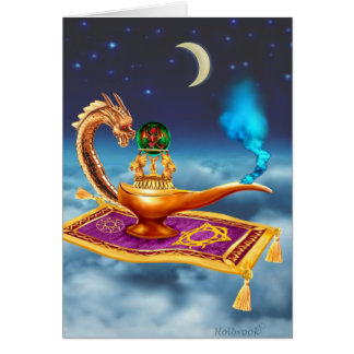 Magical Dragon Lamp Card
