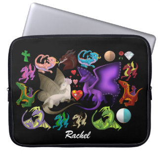 Magical Dragons Laptop Sleeve Personalized