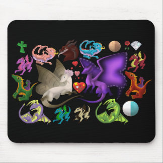 Magical Dragons Mouse Pad