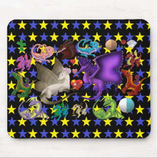 Magical Dragons Mouse Pad Star 2