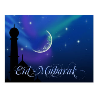 Magical Eid Night - Islamic Greeting Postcard
