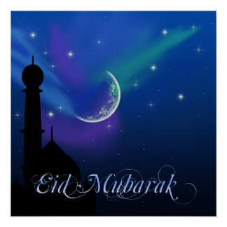 Magical Eid Night - Islamic Greeting Poster Print