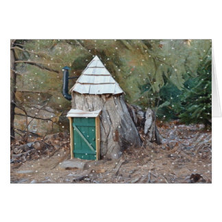 Magical Elf House Card