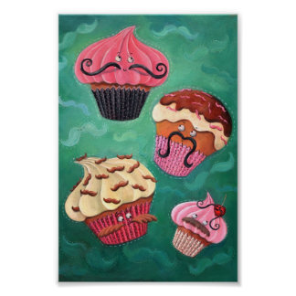 Magical Emporium of Flying Mustached Cupcakes Poster