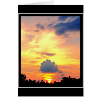 Magical Evening Sunset Card