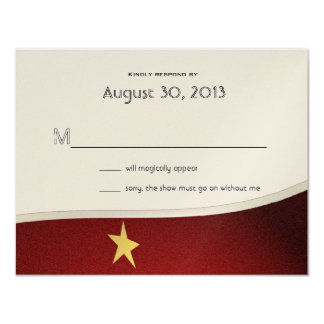 Magical Event Reply Card 11 Cm X 14 Cm Invitation Card