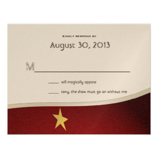 Magical Event Reply Card Personalized Invite