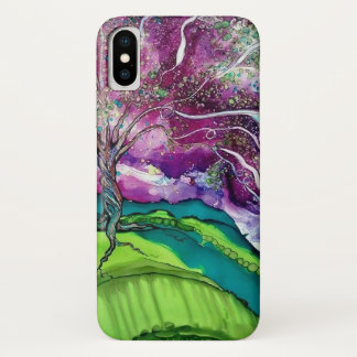 Magical Faerie Forest Fantasy Watercolor iPhone X Case