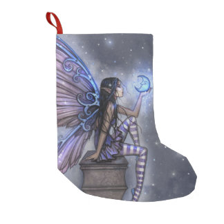Magical Fairy with Moon Christmas Stocking