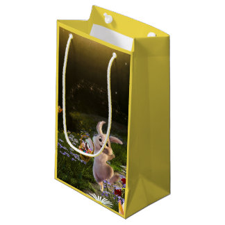 Magical Fantasy Easter Bunny Scene Small Gift Bag