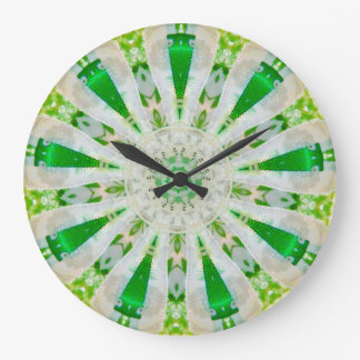 Magical Flower Star Fractal Large Clock