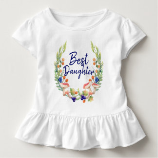 Magical Forest Best Daughter Ruffle Tee Shirt