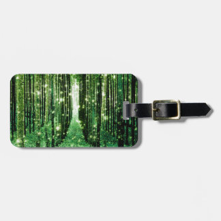 Magical Forest Green Mystery Luggage Tag