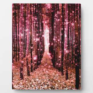 Magical Forest Peach Pink Plaque
